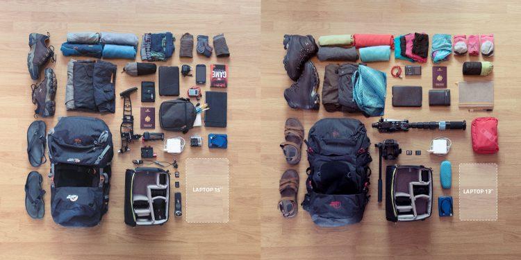 Bags ans gear split view